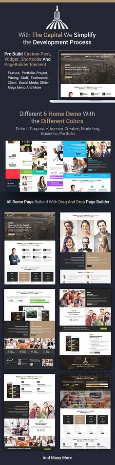CAPITAL 6 in 1 Business And Corporate WordPress Theme for Stunning Corporate, Agency, Creative, Marketing, Business and Portfolio #Website. #freelancer #smallbiz