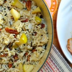 Harvest Rice with Apples and Pecans - Reminiscent of fall, this rice has a mixture of brown and wild rice, tossed with tart apples and buttery toasted pecans.