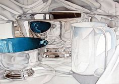 Jeanette Pasin Sloan. STILL LIFE. 1979. Acrylic with colored pencil on white board.