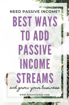 Want to grow your business, but don't have the time?  Maybe you should add some passive income streams.  Here are my favorite passive income streams to add to your business.  #passiveincomestreams #passiveincome #growyourbusiness