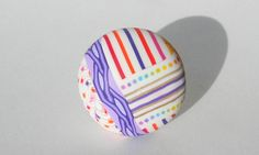 Polymer clay ring by Les Folles Marquises. Via Flickr