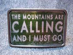 najlepsza klamra do paska! Mountain Lovers   Belt Buckle