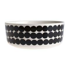 Marimekko - Siirtolapuutarha Bowl - White/Black - 1.5L