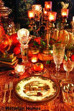 A Victorian Thanksgiving Dinner- Autumn Tea Punch