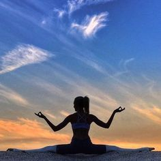 silhouette sunset yoga