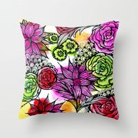 Throw Pillows by Alisa Burke | Society6