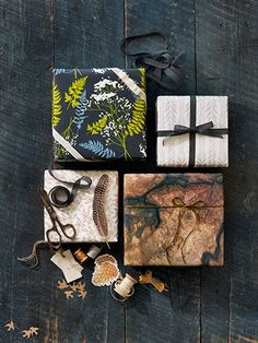 Love this botanical wrapping paper? Click to find out where to get it!