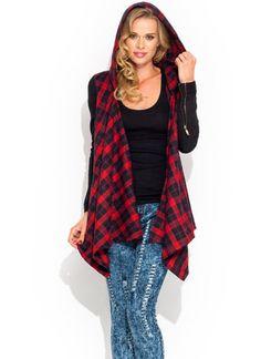 Hooded Tartan Flyaway Jacket ♡♥♡ #gojane