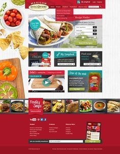 Discovery Foods - Website Concepts by Hannah Mason , via Behance