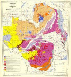 Soil map of Rhodesia and Nyasaland, 1960