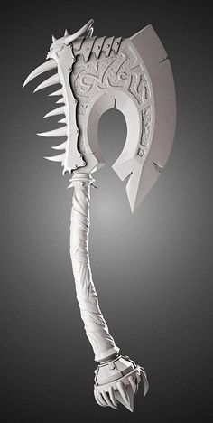 Any Axe that i did for a action figure from Wold of Warcraft. I modeled the Axe (Zbrush and 3Dsmax) and the sculptor, Erick Sosa (ZKULPTOR) made the orc in clay. The Axe was printed to be integrate...