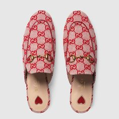 gg canvas slippers by gucci