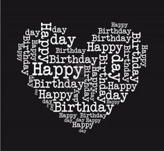 Happy Birthday Black and White heart - Old Birthdays Hearts Happy Birthday Dear Friend, Happy Birthday Hearts, Happy Birthday Black, Happy Birthday Pictures, Happy 16th Birthday Son, Happy Birthday Music, 50 Birthday, Sister Birthday, Card Birthday