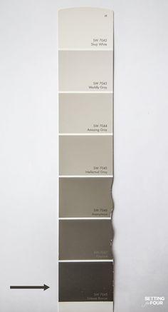 Brown Paint Colors, Greige Paint Colors, Paint Colors For Home, Grey Paint, Paint Color Schemes, Gray Color, House Paint Exterior, Exterior Paint Colors, Exterior House Colors