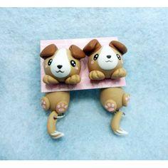 Dog Clinging Ears,fimo, handmade,hecho a mano,polymer clay,cuelga orejas,earrings,perro,pendientes