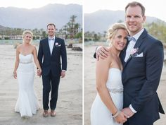 palm springs cree estate sunset bride and groom portraits