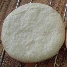 These simple butter cookies do not spread in baking.