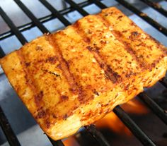 Grilled Tofu With Blackened Seasoning.  This one took some convincing on my part. Jimi was sure this was going to get stuck to the grill and/or fall apart.  It didn't and we really liked it.  Will definitely be grilling more tofu in the future.