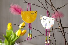Askarteluvinkki pääsiäiseen: värikkäät tipuset Spring Crafts For Kids, Easy Crafts For Kids, Crafts To Make, Art For Kids, Arts And Crafts, Easter Art, Easter Crafts, Spring Art, Preschool Art