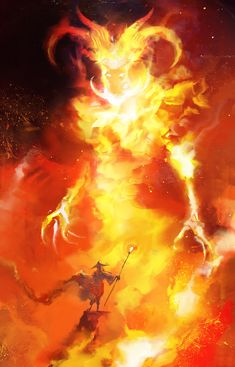 Vision in the Flames, 30min. spitpaint, Photoshop CS6