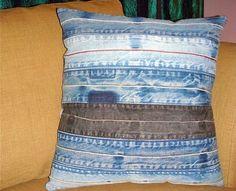 Подушки из старых джинсов: коллекция вдохновляющих идей