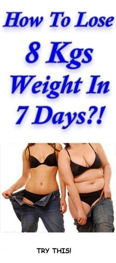Easy way to lose 8 kgs weight in 7 days. Try this!