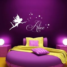 Personalised Name Fairy Vinyl Wall art Sticker Decal
