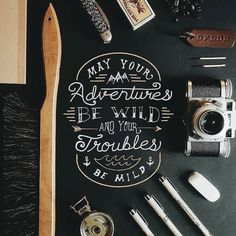 I don't always need wild adventures mild troubles would be great though. Type by @dayfielder_designs | #typegang if you would like to be featured | typegang.com | typegang.com #typegang #typography
