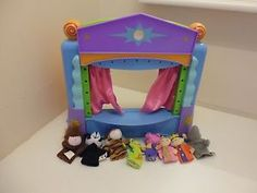 PUPPET THEATRE WITH LIGHTS AND SOUNDS + 8 FINGER PUPPETS CHAD VALLEY show time