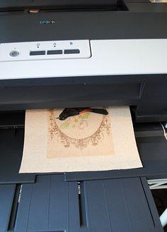 Procédure d'impression sur tissu - Congélateur Méthode papier - La Fée Graphics