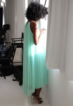 Mint green Tibi dress.