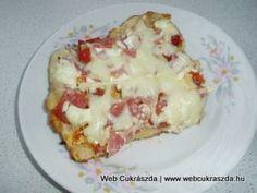 Kenyérlángos Hungarian Recipes, Hungarian Food, Kenya, Baked Potato, French Toast, Potatoes, Eggs, Baking, Breakfast