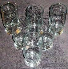 Vintage Anchor Hocking Tumblers Set Of 6 Clear Twist Glasses NICE L@@K!!!!!