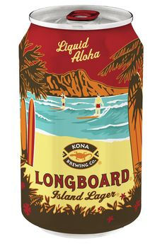 Kona Brewing Company's Longboard Island lager in a can.