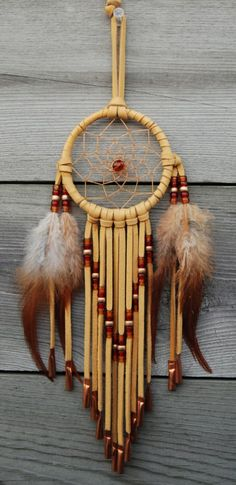 3 Inch Golden Dream CatcherRed and Copper by SouthernCloud on Etsy, $22.00