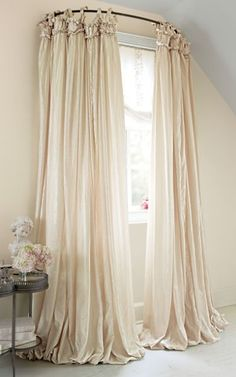 Soft Surroundings this drapery comes in the most beautiful colors and very reasonable.