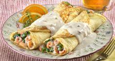 Receta de Crepes de camarones con brócoli   Ideas para comidas saludables de Bumble Bee
