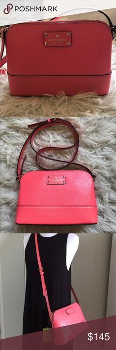 NWOT Kate Spade Hanna Crossbody NWOT never used Hanna Cross-body Purse by Kate Spade in pink. Comes with adjustable strap and care instructions. Price negotiable! kate spade Bags Crossbody Bags