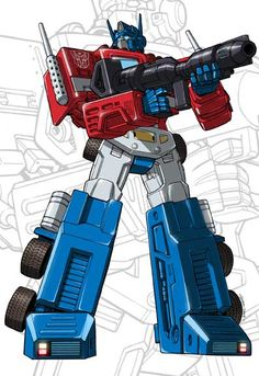 This is from Marvel's Transformers Issue #80, the splash page where Optimus Prime came back (again). Artist Andrew Wildman was awesome enough to give me a high-rez scan of the lineart so I can reco...