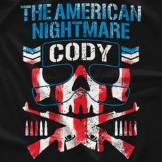 "Cody Rhodes ""American Nightmare"" Bullet Club t-shirt design. Wrestling Posters, Wrestling Shirts, Wrestling Wwe, Wrestling Tattoos, Bullet Club T Shirt, Bullet Club Logo, Japanese Wrestling, Japan Pro Wrestling, Balor Club"