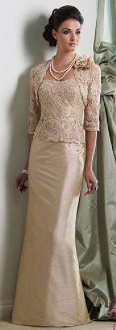 Moda anti-idade: Vestido longo para mãe da noiva