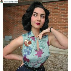 "Repost: ""Detail showing off my @lillianmadison brooch and the gorgeous colors on my top from @farfromherevintage! Matches my @colourpopcosmetics lippy so well ""   Absolutely love this shot of @misslarkbahar wearing our Lady brooch  and that top is divine Vist my website to check out our brooches.   #noveltybrooch #brooch #brooches #pin #pins #lillianmadison #vintage #pinup #turkishpinup #pinupgirlstyle #pinuplife #pinupaccessories #pinupsofcolor #pinupgirl #noveltybroochfriday #dapperday…"