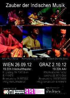 OeII Event: Magic of Indian Music ► Oct 2012 - Klagenfurt Klagenfurt, Indian Music, Yoga, Art Music, Concerts, Magic, Events, Culture, Vienna