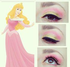 Sleeping beauty inspired makeup