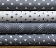 Stoffpaket Baumwollstoffe, #stoffpaket #patchwork grau,