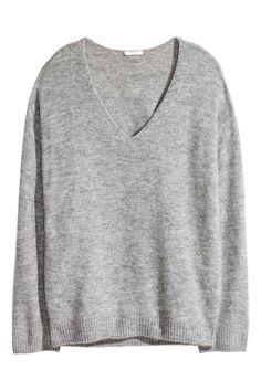 Cienki sweter - Szary melanż - ONA | H&M PL