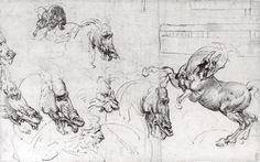 Étude de chevaux Windsor Castle, royal Library