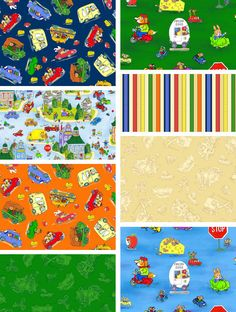 Richard Scarry Busytown fabric