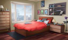 Can someone help me edit this bedroom so it's daytime instead of nighttime ; I'd appreciate it 😅! Fancy Bedroom, Bedroom Night, Farmhouse Master Bedroom, Master Bedroom Makeover, Bedroom Red, Bedroom Themes, Bedroom Decor, Bedroom Door Design, Modern Bedroom Design