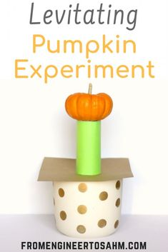 This quick and easy fall science experiment is a fun and memorable way to teach kids about inertia! Perfect for home or for the classroom for fall or Halloween! - Education and lifestyle Autumn Activities For Kids, Kids Learning Activities, Stem Activities, Teaching Kids, Easy Science Experiments, Science For Kids, Science Fun, Halloween Science, Easy Halloween